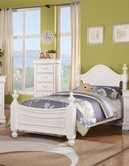 ACME 30125T CLASSIQUE JR. WHITE TWIN BED