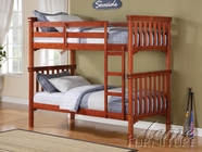 ACME 37035 CHERRY BUNK BED (3 CTNS)-W/P2