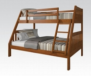 ACME 37125 OAK TWIN/FULL BUNKBED-W/P0