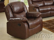 ACME 50012 BROWN BONDED LEATHER MATCH RECLINER W/MOTION-W/P1