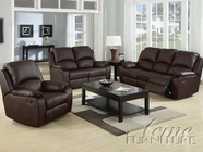 ACME 50045-46-47 Caray Black Bonded Leather Sofa w/5 Recliners Set