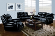ACME 50095-96-97 Moreno Black Bonded Leather 3 PC Power Motion Sofa Set