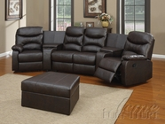 ACME 50110 BROWN BONDED LEATHER MATCH HOME THEATER