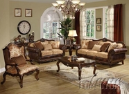 ACME 50155-56-57 Remington Bonded Leather & Fabric Sofa Set