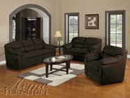 ACME 50175-76-77 Connell Chocolate Microfiber 3 PC Sofa Set