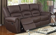 ACME 50285 BONDED LEATHER MOTION SOFA-W/P2