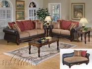ACME 50315-16-17 Olysseus Brown Floral Sofa Set
