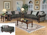 ACME 50320-21-22 Olysseus-Gray-Tanglewood-Brown-Sofa-Set