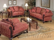 ACME 50330-31-32 Fairfax Magenta Sofa Set