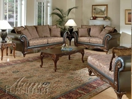 ACME 50335-36-37 Fairfax Chocolate & Raisin Sofa Set