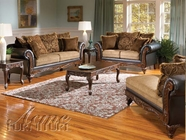 ACME 50340-41-42 Fairfax Chocolate & Splurge Sofa Set
