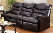 ACME 50930 ESPRESSO BONDED LEATHER SOFA W/MOTION-W/P1