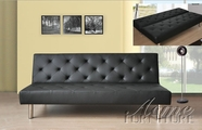 ACME 57006 BLACK PU ADJUSTABLE SOFA