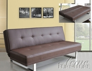 ACME 57008 BROWN PU ADJUSTABLE SOFA