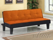 ACME 57029 ORANGE ADJUSTABLE SOFA