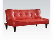 ACME 57077 RED PVC ADJUSTABLE SOFA