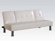 ACME 57078 WHITE PVC ADJUSTABLE SOFA