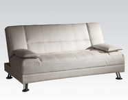 ACME 57079 WHITE PU ADJUSTABLE SOFA