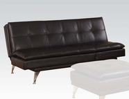 ACME 57080 BLACK PU ADJUSTABLE SOFA
