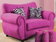 ACME 59006 PINK MICROFIBER SOFA CHAIR W/ 2 PILLOWS