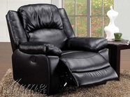ACME 59008 BLACK BONDED LEATHER MATCH RECLINER