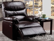 ACME 59015 BROWN BONDED LEATHER RECLINER