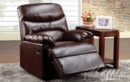 Acme 59016 Cracked Brown Bonded Leather Recliner