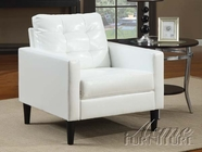 ACME 59048 WHITE PU ACCENT CHAIR