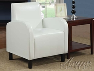 ACME 59054 WHITE PU ACCENT CHAIR