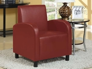 ACME 59056 RED PU ACCENT CHAIR