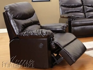 ACME 59063 ESPRESSO BONDED LEATHER RECLINER W/POWER MOTION-W/P2