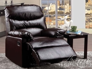 ACME 59065 BROWN BONDED LEATHER RECLINER W/GLIDER