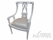 ACME 59111 WHITE ACCENT CHAIR W/ SILVER PU SEAT