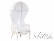 ACME 59115 WHITE PU HOODED ACCENT CHAIR