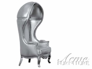 ACME 59116 SILVER PU HOODED ACCENT CHAIR