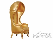 ACME 59117 GOLD PU HOODED ACCENT CHAIR