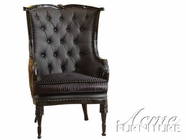 ACME 59120 BLACK ACCENT CHAIR (W/BLACK PU)