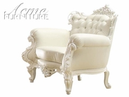 ACME 59137 WHITE FRAME/WHITE PU ACCENT CHAIR