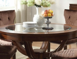 Acme 60022 Brown Cherry Round Dining Table