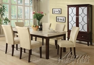 ACME 60040-4X42 Kyle White Faux Marble Top Dining Table Set