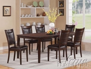 ACME 60085-4X87 Waller Dark Walnut Finish Dining Table Set