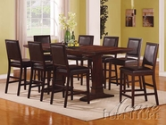 ACME 60095-4X98 Decca Espresso Finish Counter Height Dining Table Set