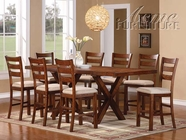 ACME 60100-4X02 Daryn Oak Finish Counter Height Dining Table Set