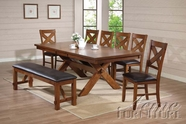 ACME 70000-4X03 Apollo Distressed Oak Finish Dining Table Set