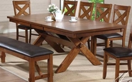 ACME 70000 WALNUT DINING TABLE (T/ST)-W/P2