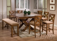 ACME 70005-4X08 Apollo Walnut Finish Counter Height Dining Set