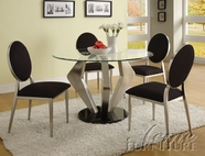 ACME 70010-4X13 Turner 8mm Glass Top Dining Table Set