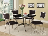 ACME 70015-4X18 Abbott 8mm Glass Top Dining Table Set