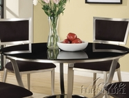 ACME 70015 METAL TABLE W/70016GL (BLACK GLASS)-W/P2