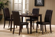 ACME 70045-4X47 Jaspel Dark Wenge Finish Dining Table Set